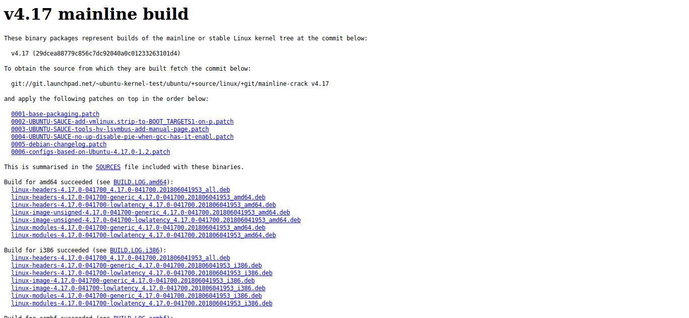 1.- Mainline kernel ubuntu
