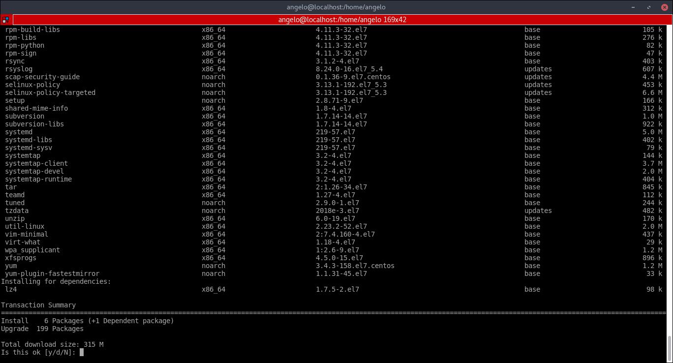 1.- Upgrading CentOS
