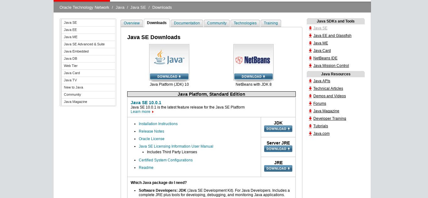 1.- Downloading Java