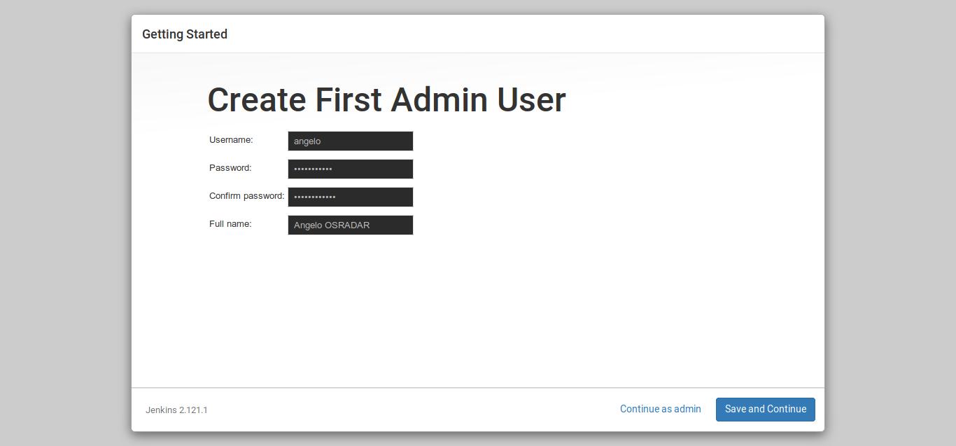 10.-First admin user