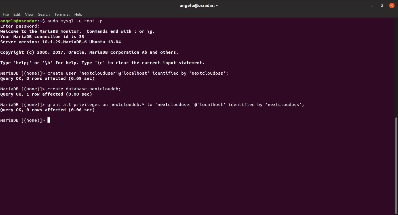 nextcloud ubuntu 18 04