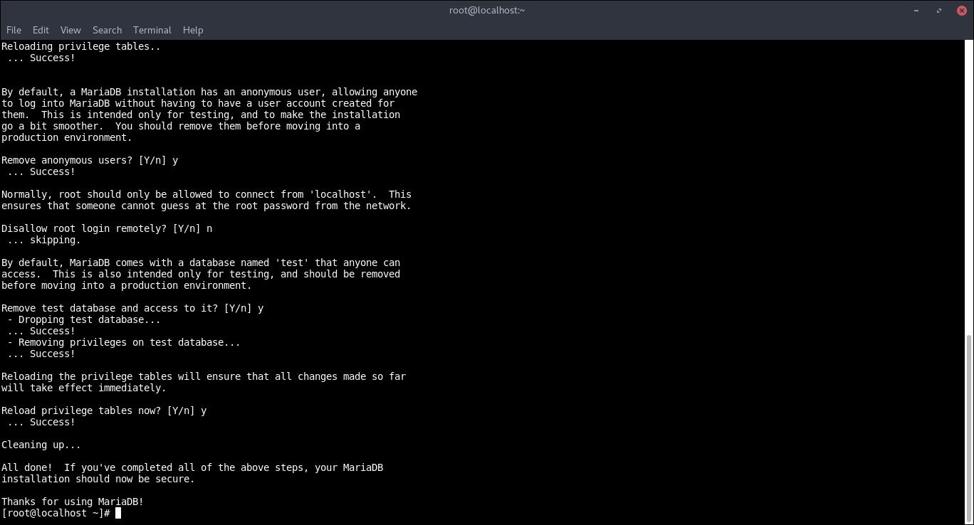 10.- Mysql_secure_installation
