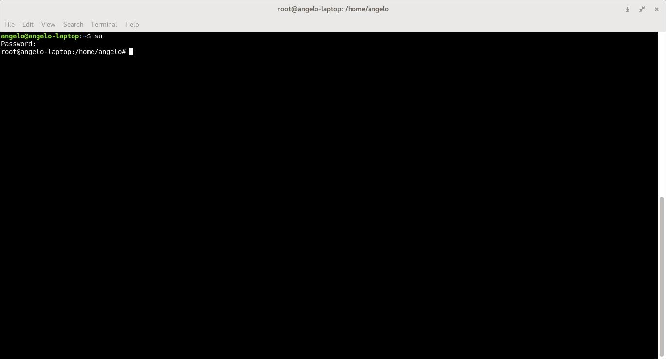13.- logging in as root user