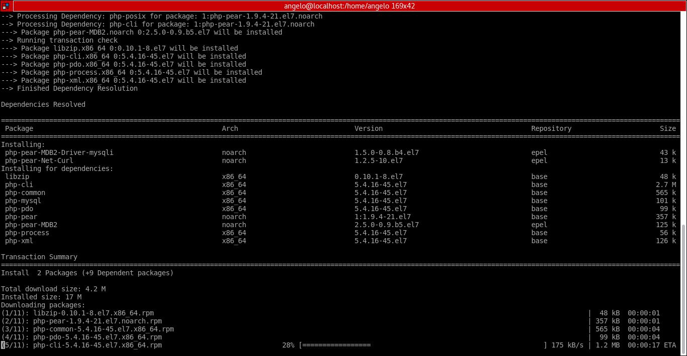 15.- Installing dependecies