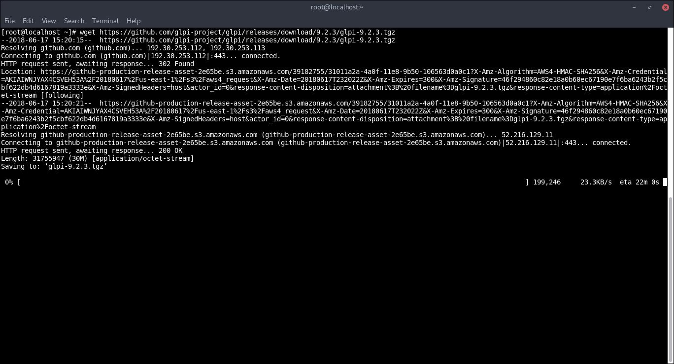 17.- Downloading GLPI