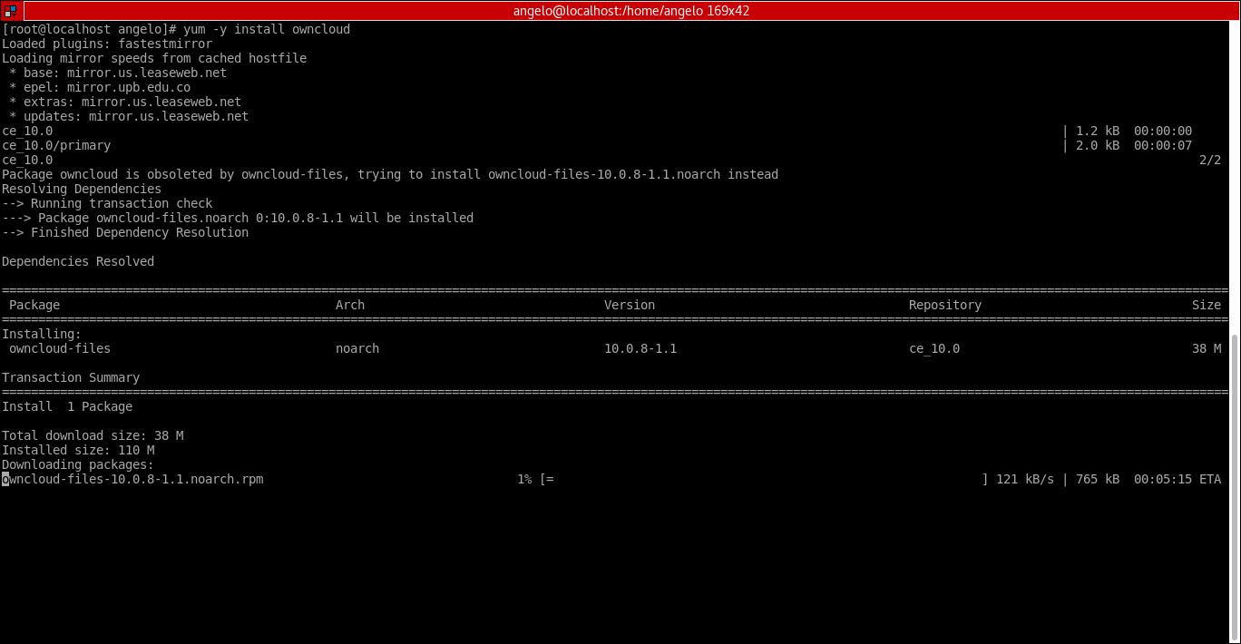 17.- Installing owncloud package