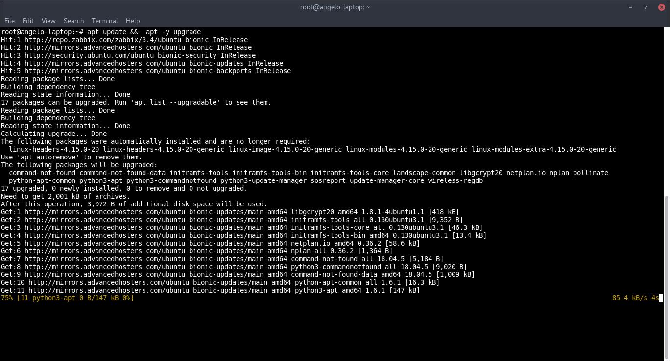2.- Upgrading Ubuntu