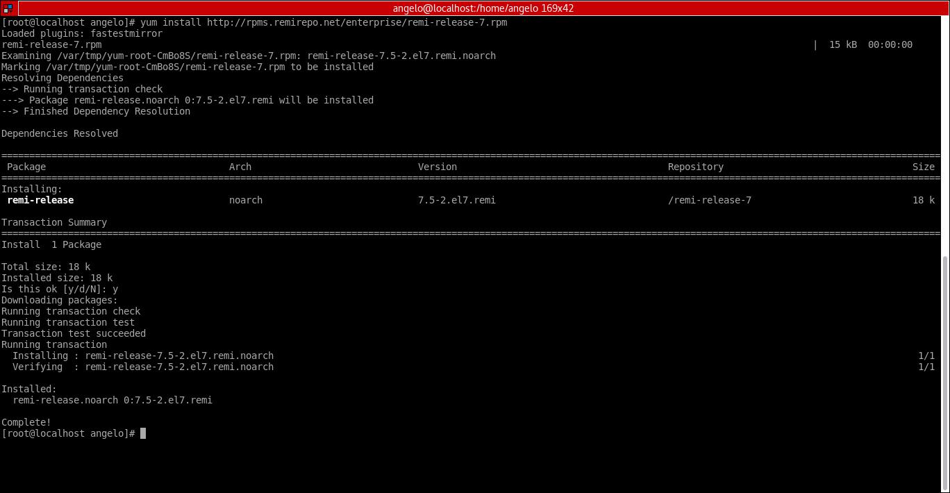 20.- Adding REMI repository