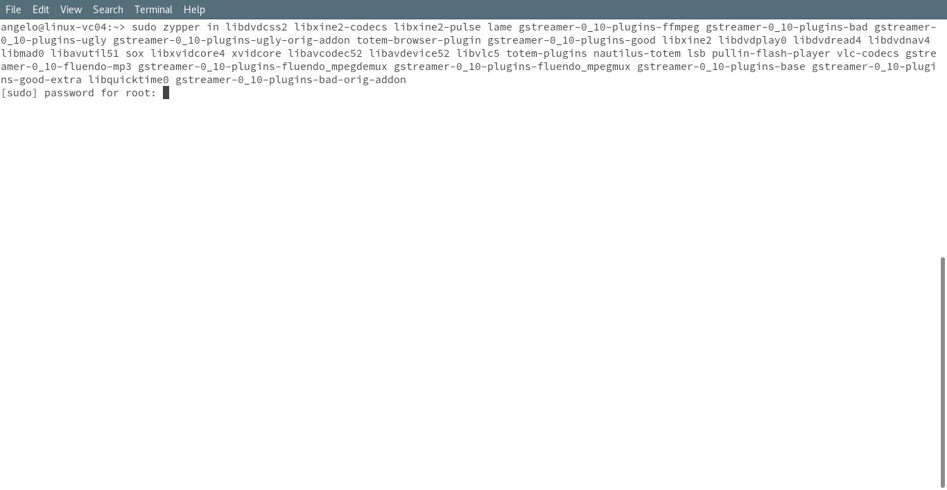 Installing multimedia codecs
