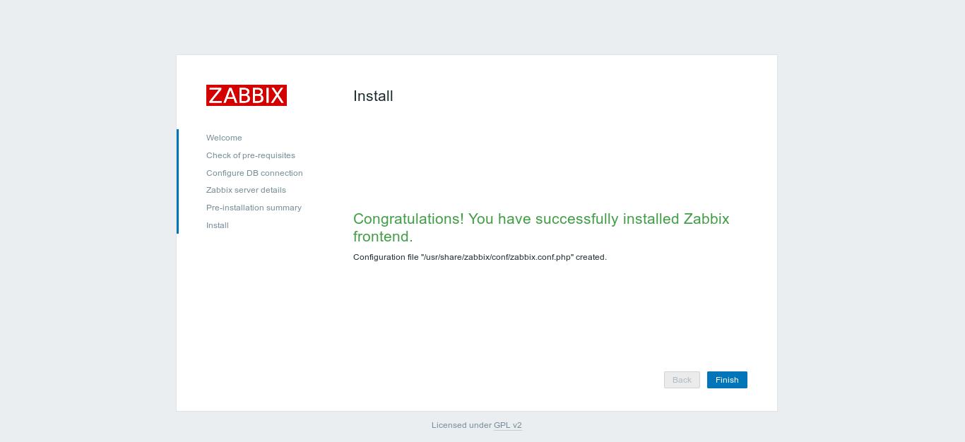23.- Zbbix installed