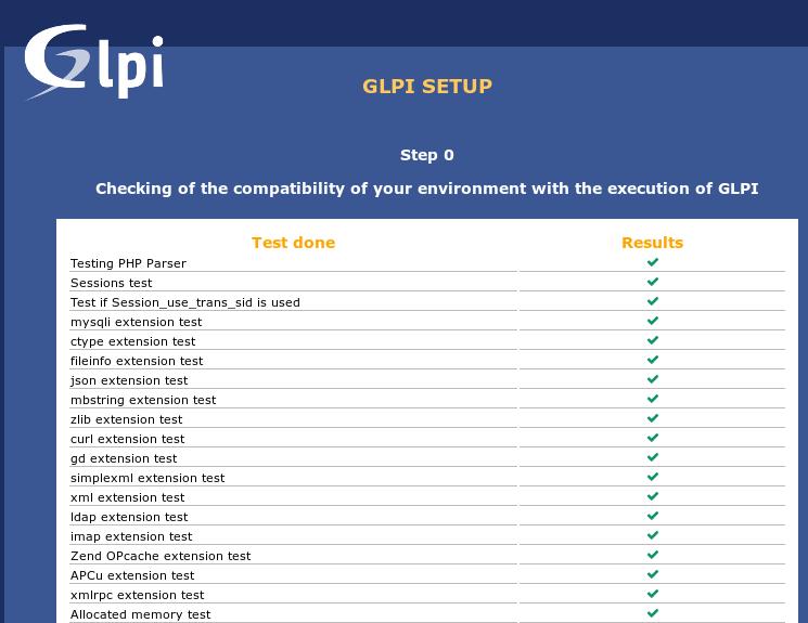 21.- Glpi setup
