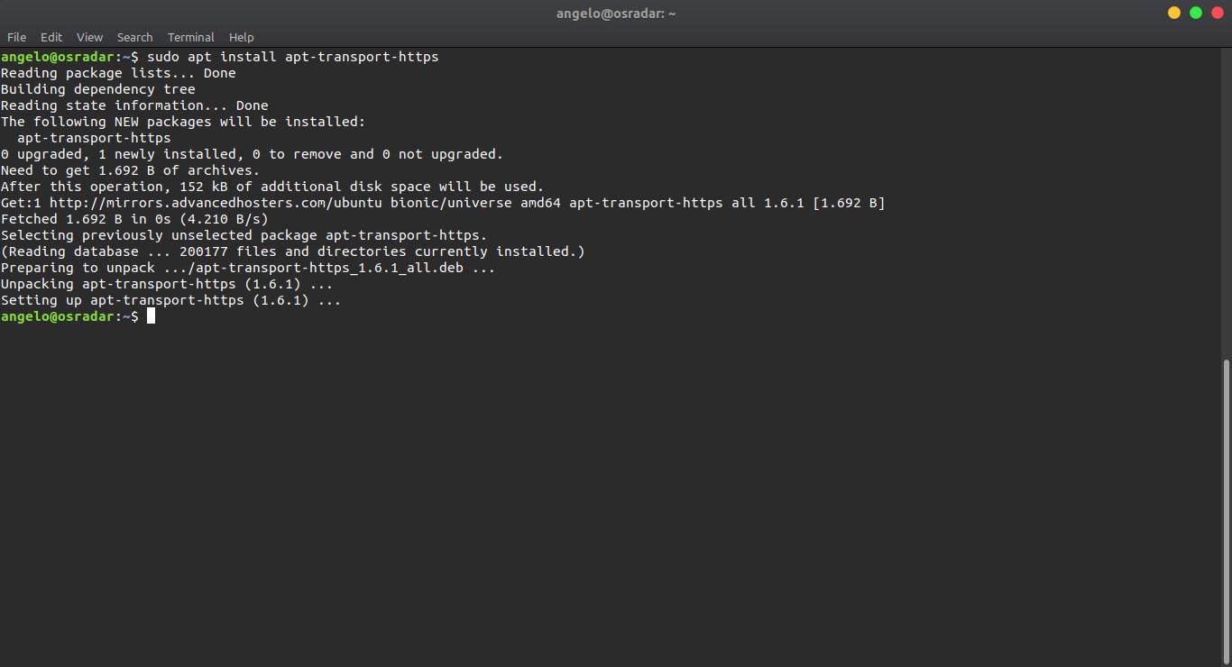 2.- Installing apt-transport-https