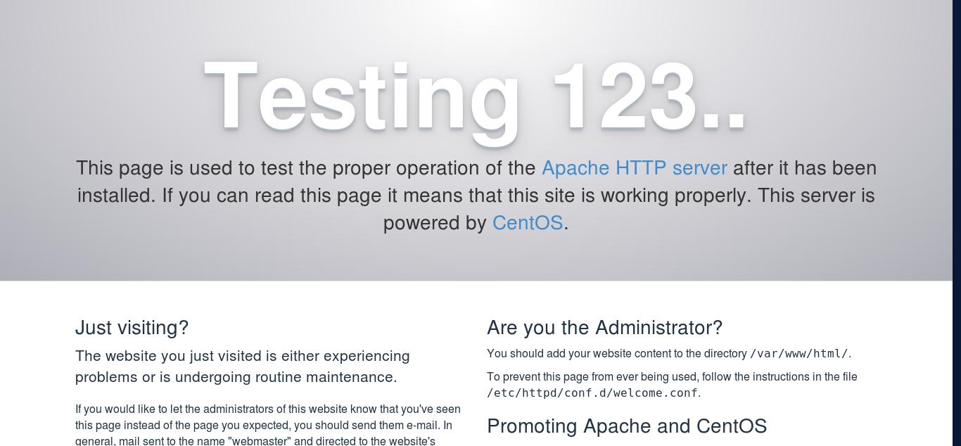 5.- Testing apache