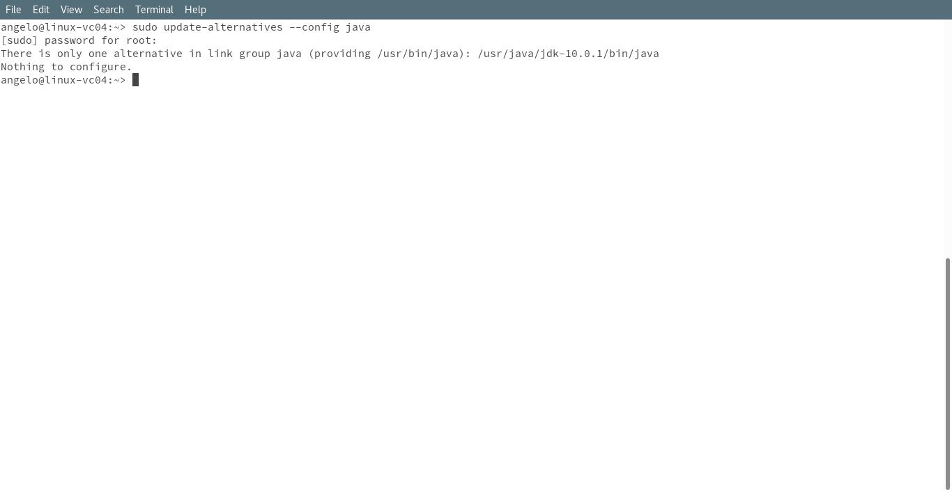 5.- Configuring java