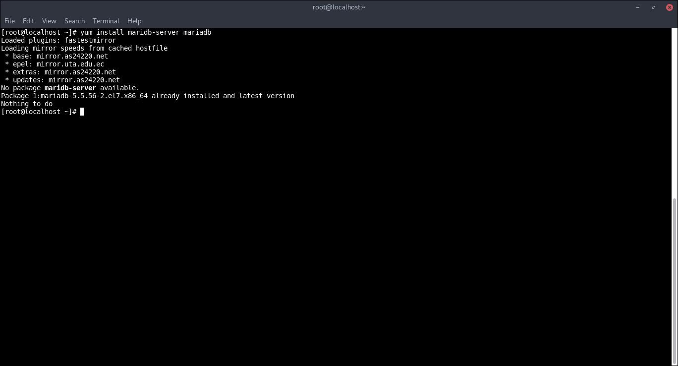 6.- Installing MariaDB