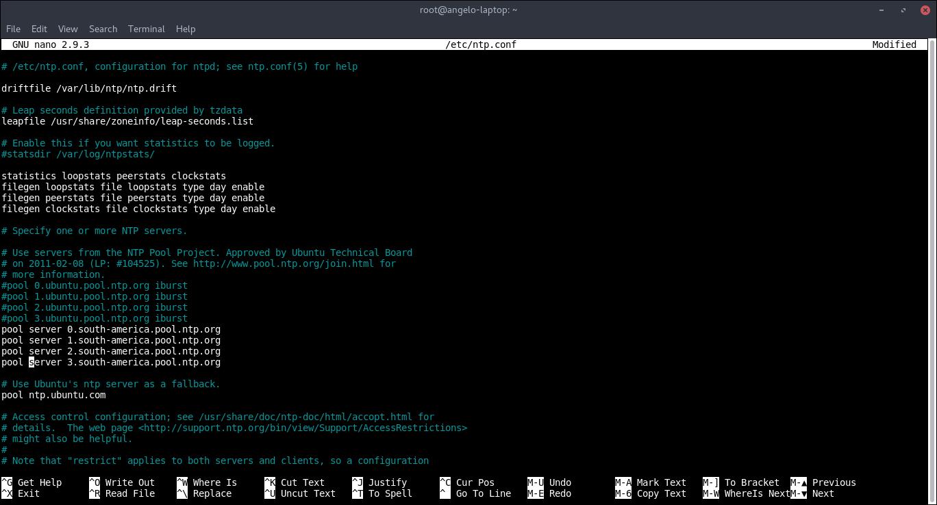 7.- Editing file ntp.conf