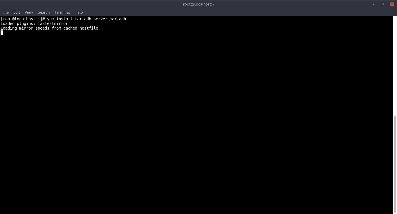 8.-Installing MariaDB