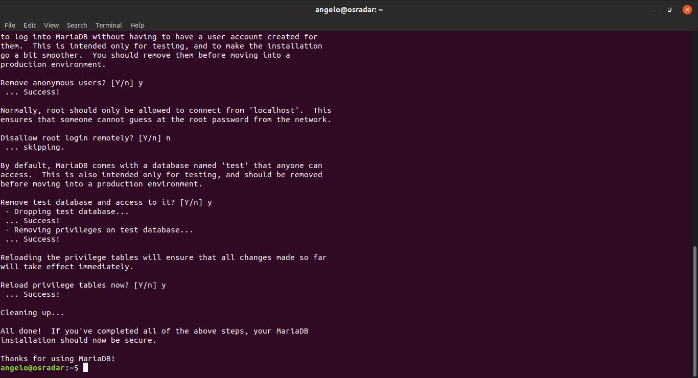 8.- mysql_secure_installation