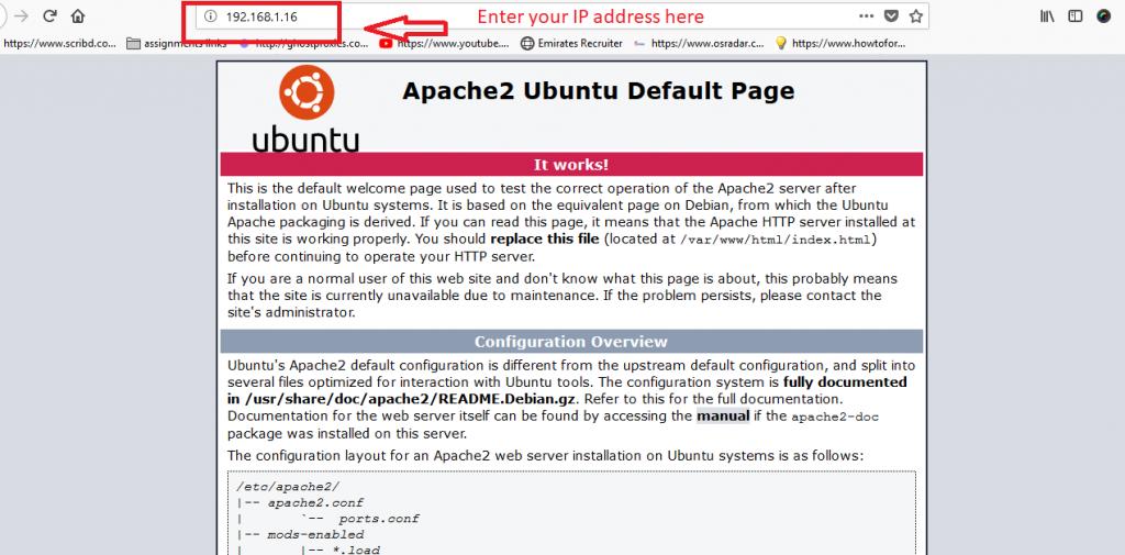 apache-Installed