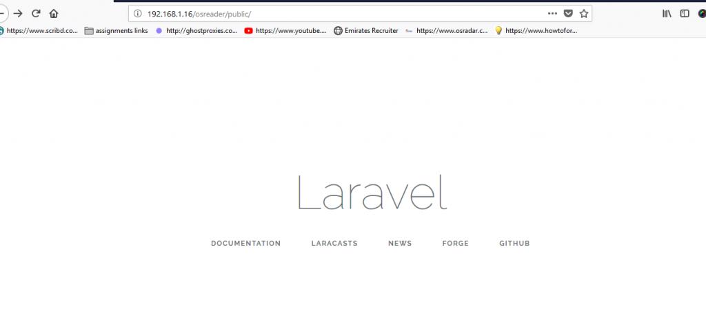 laravel-homePage