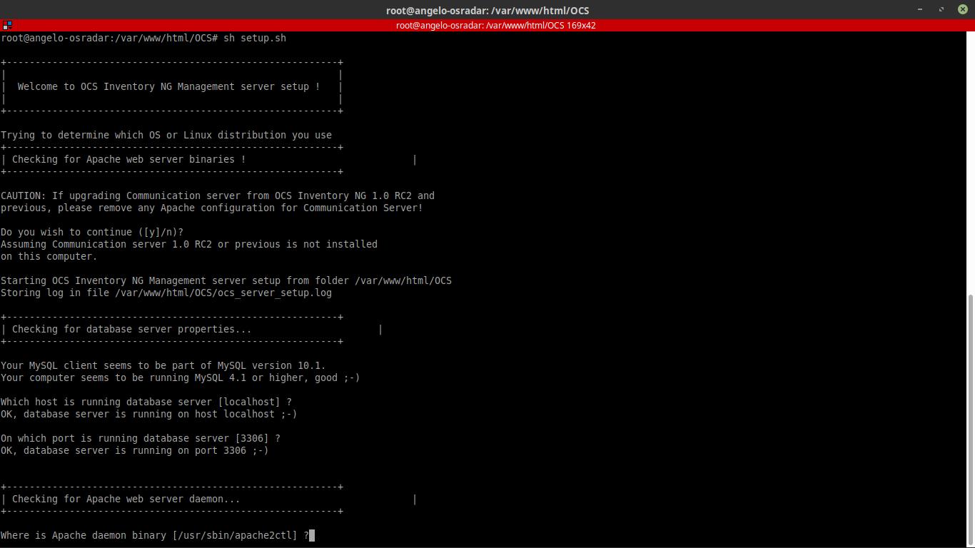 10.- Running the installation script