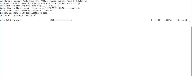 10.- Downloading otrs