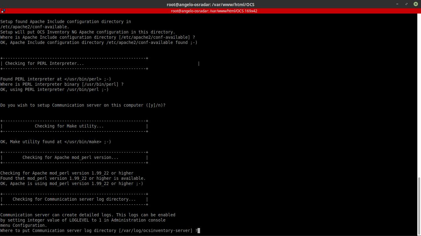 11.- Running the installation script