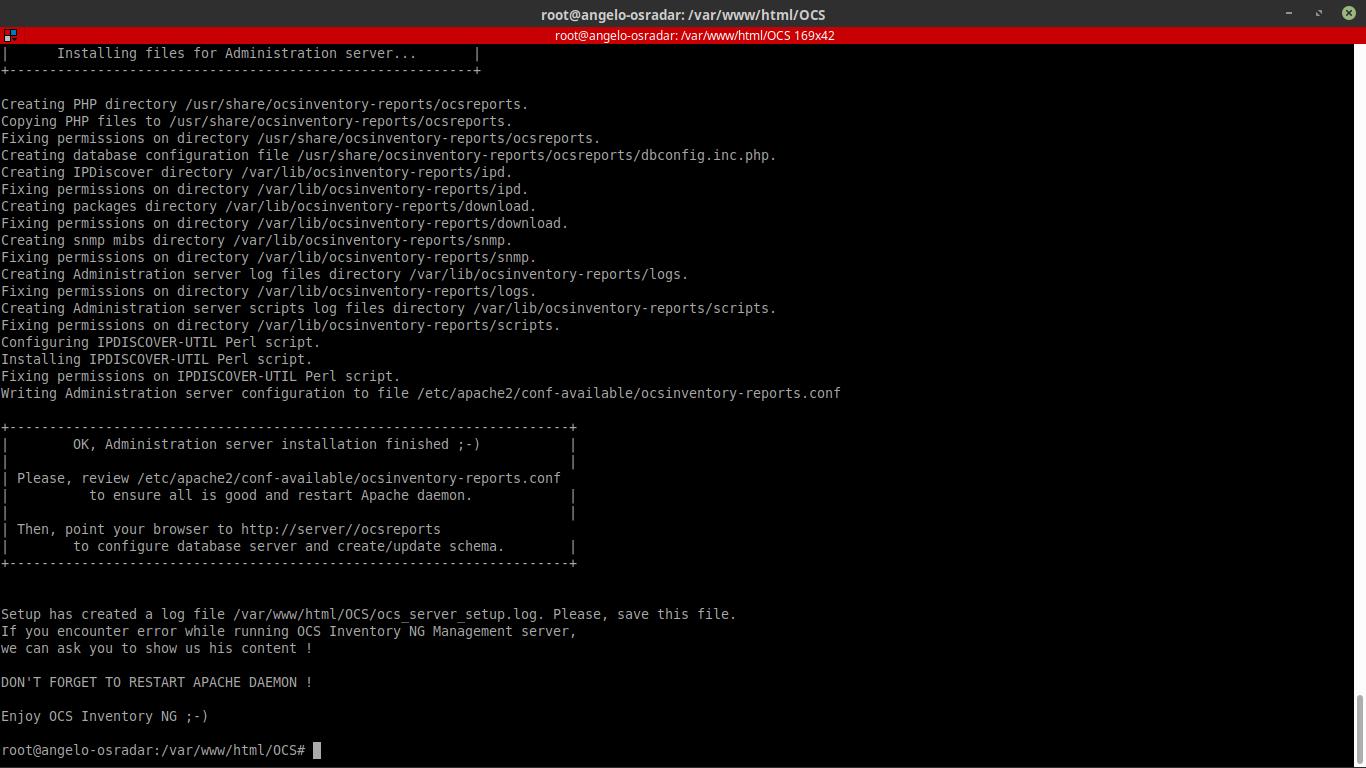 12.- Running the installation script