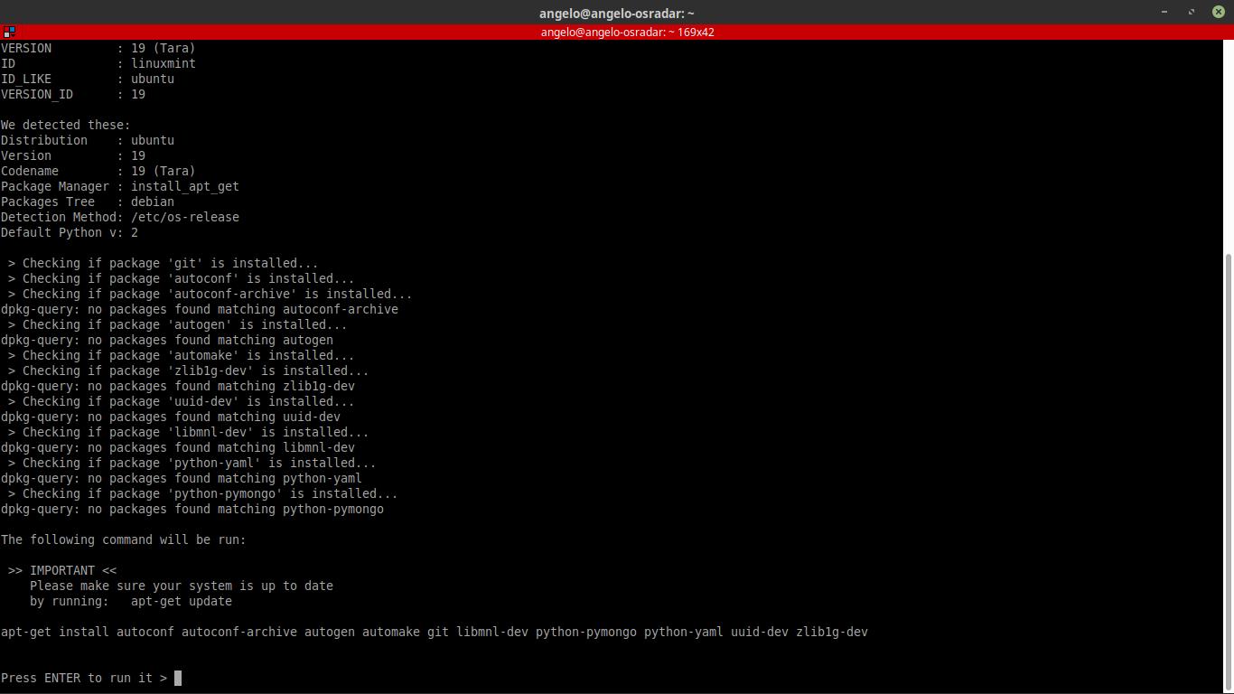2.- Installing dependencies