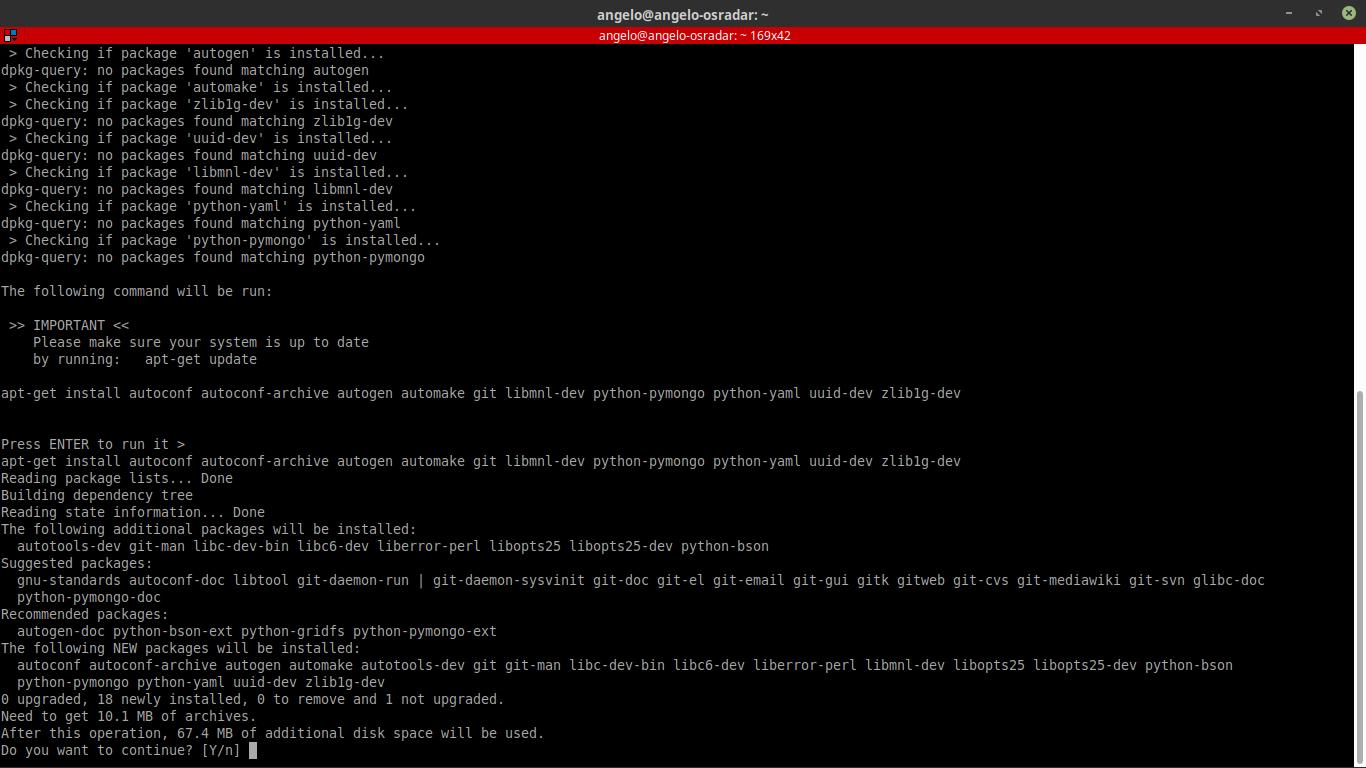 3.- Installing dependencies