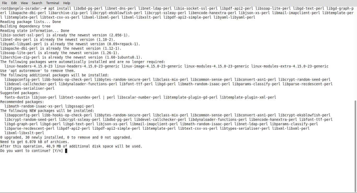 4.- Installing perl modules