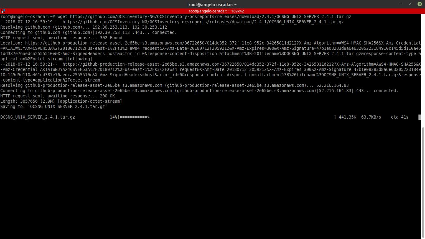 7.- Downloading OCSInventory