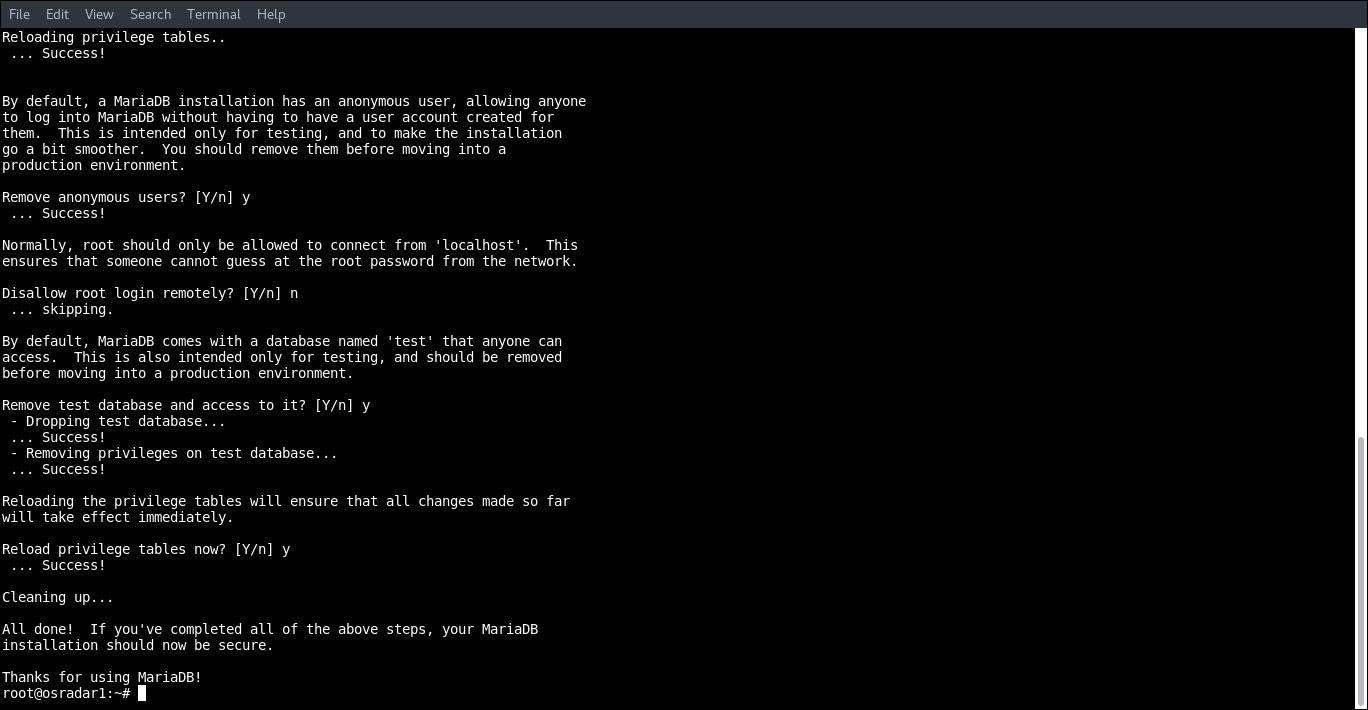 7.- mysql_secure_installation