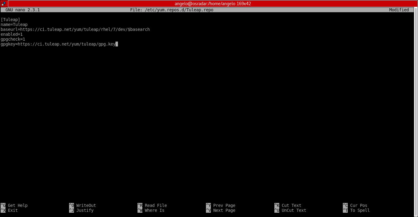 8.- Adding the tuleap repository