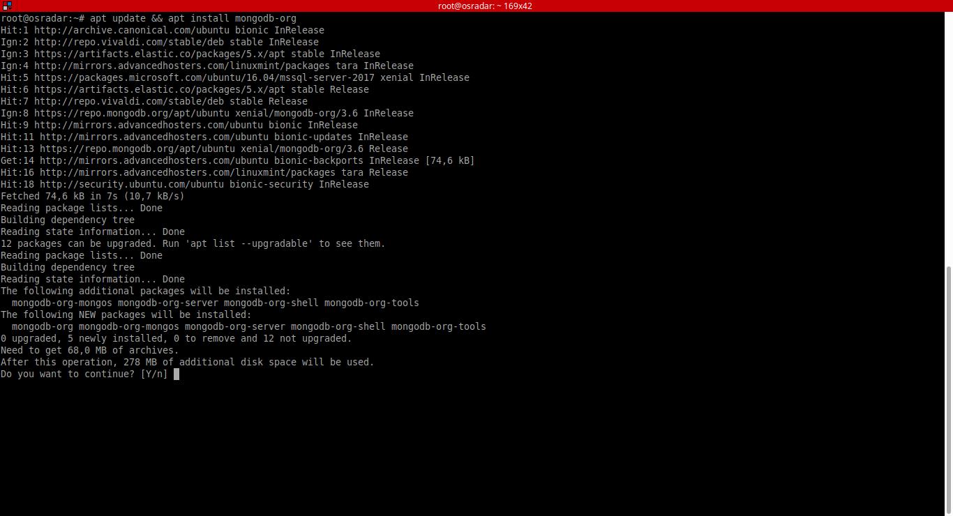 11.- Installing mongoDB