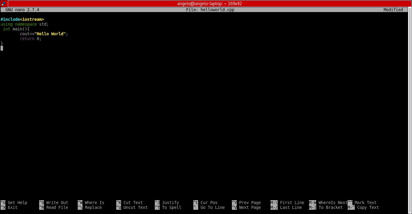 2.- Coding on nano