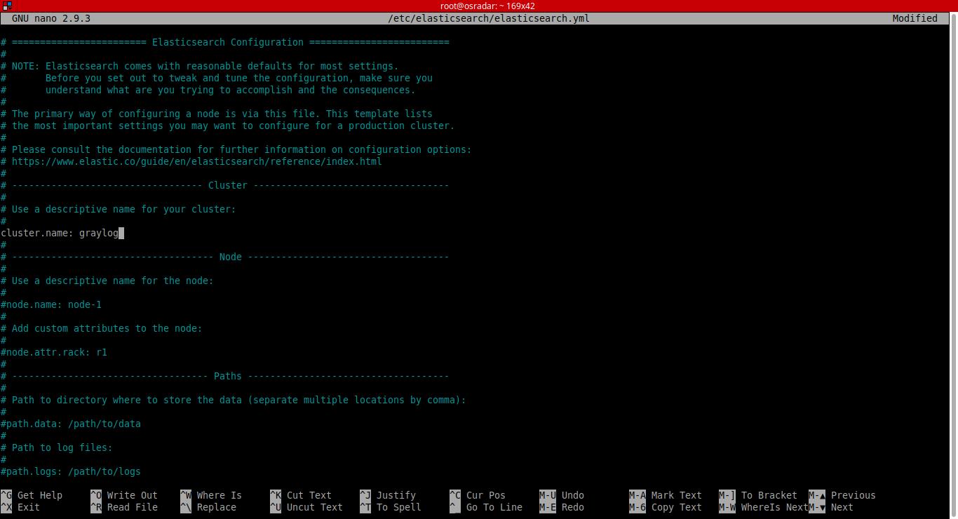 7.- Editing elasticsearch config file