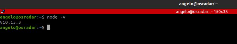 11.- nodejs version installed