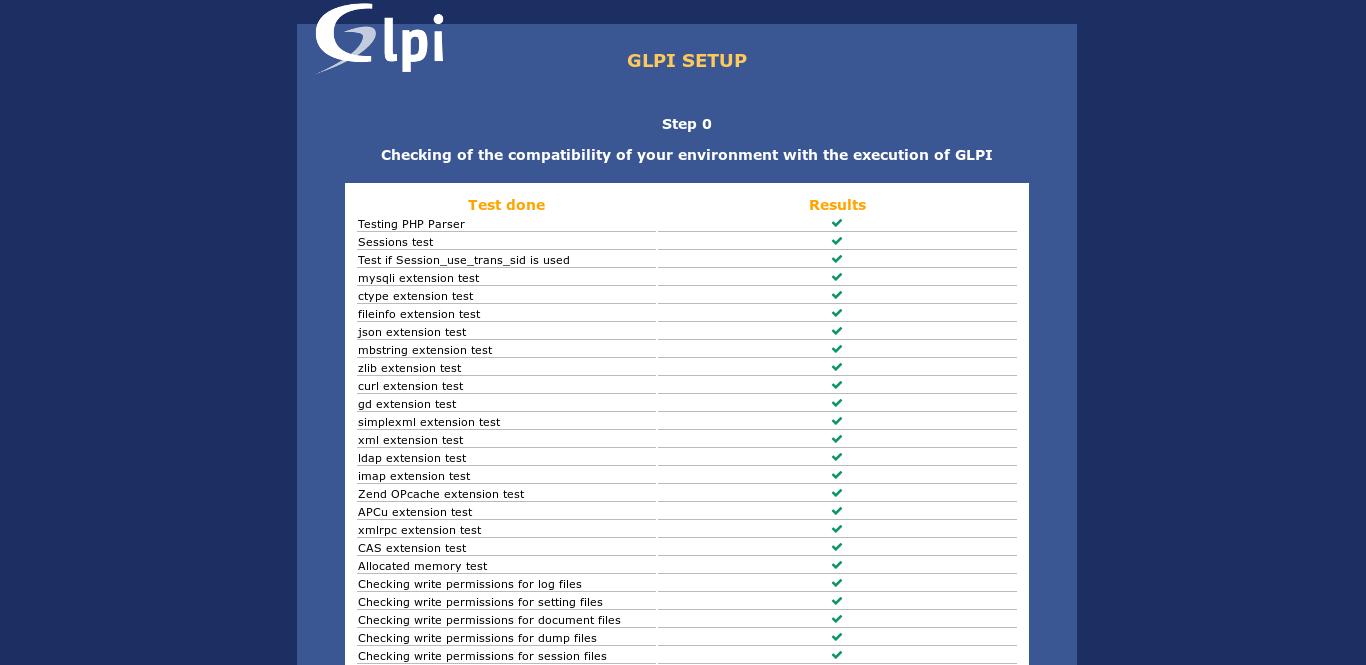 14.- Install GLPI on the system