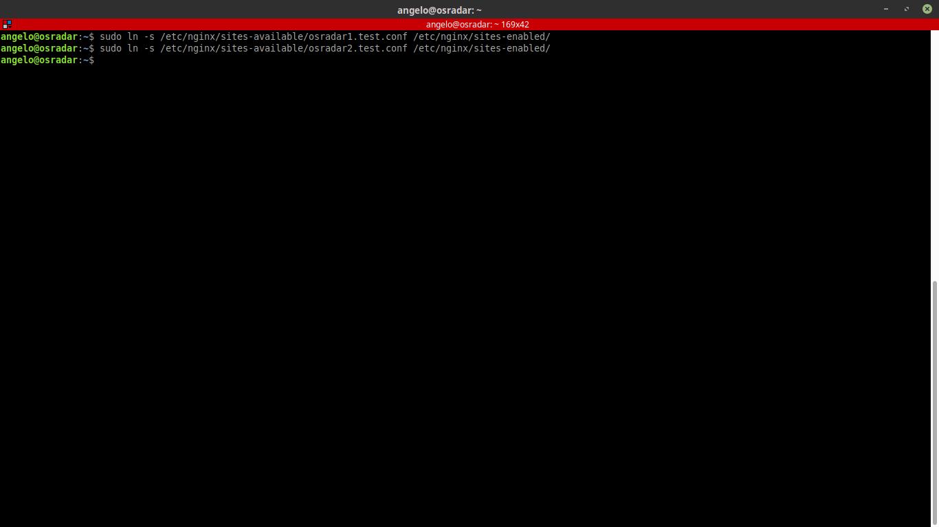 14.- Enabling the new server blocks