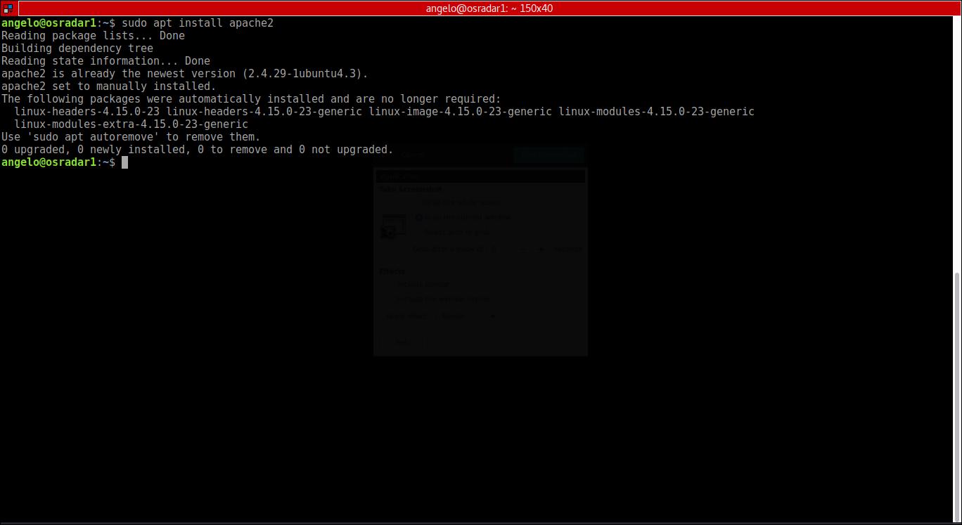 2.- Installing apache2 web server