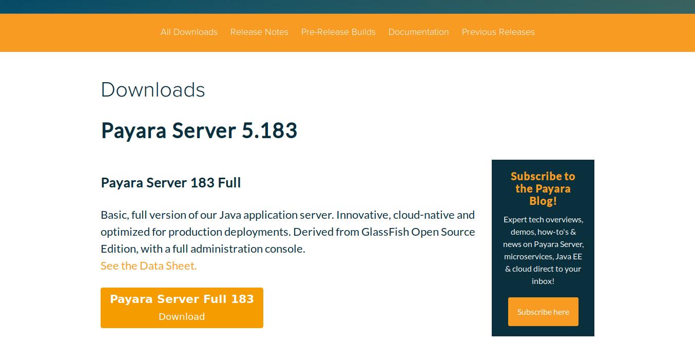 3.- Downloading Payara Server