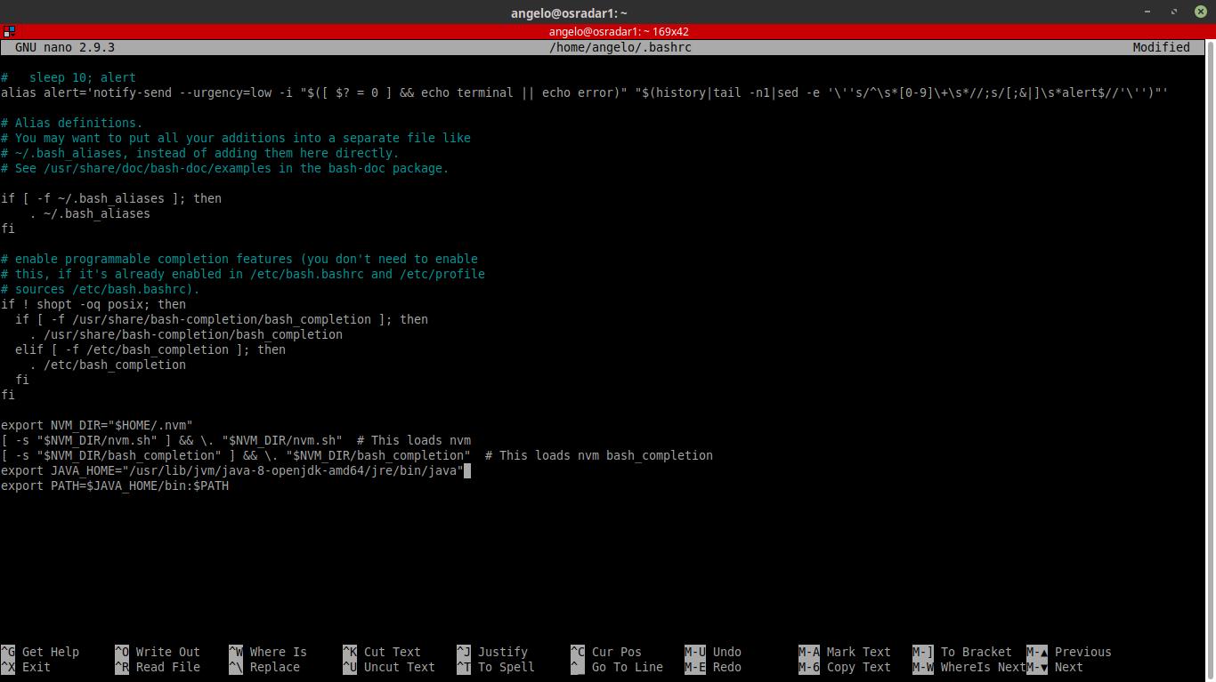 4.- Editing bashrc file