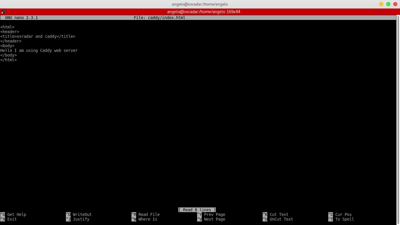 4.- Making a sample .html file