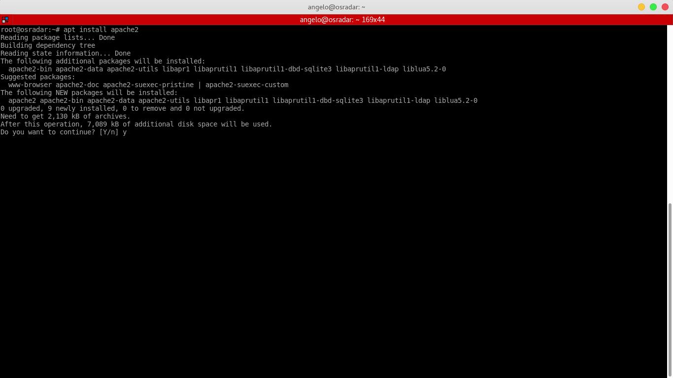 4.- Installing apache web server