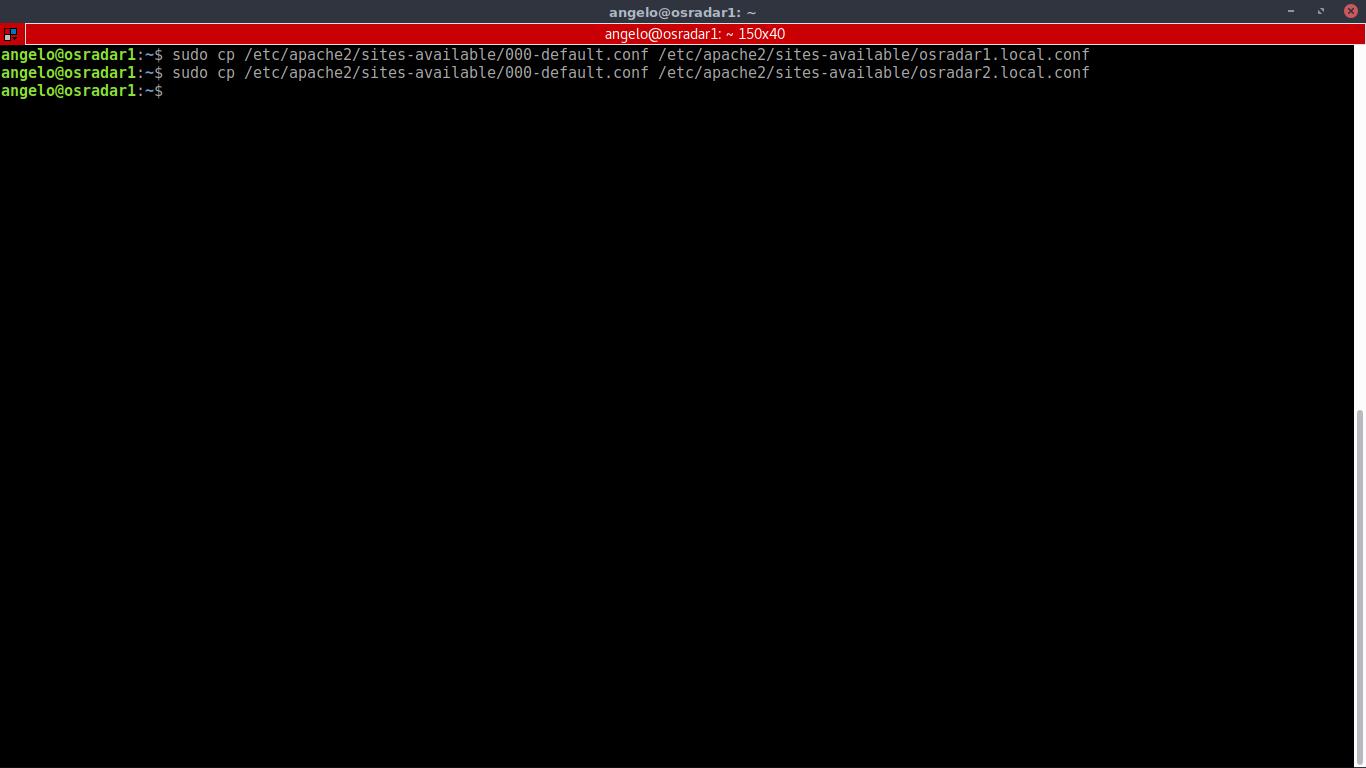 7.- Copying the apache default configuration file