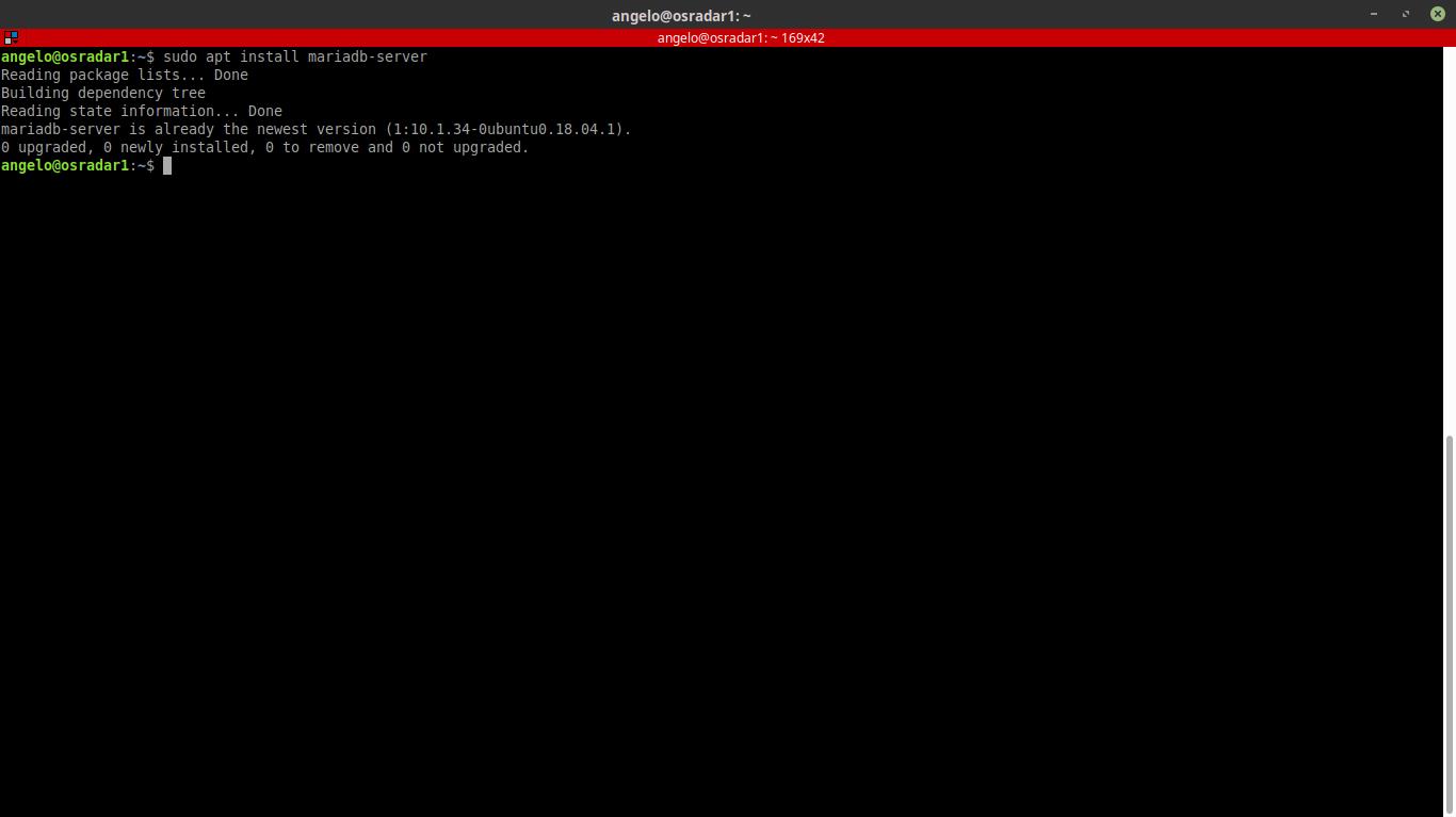 7.- Installing mariadb-server