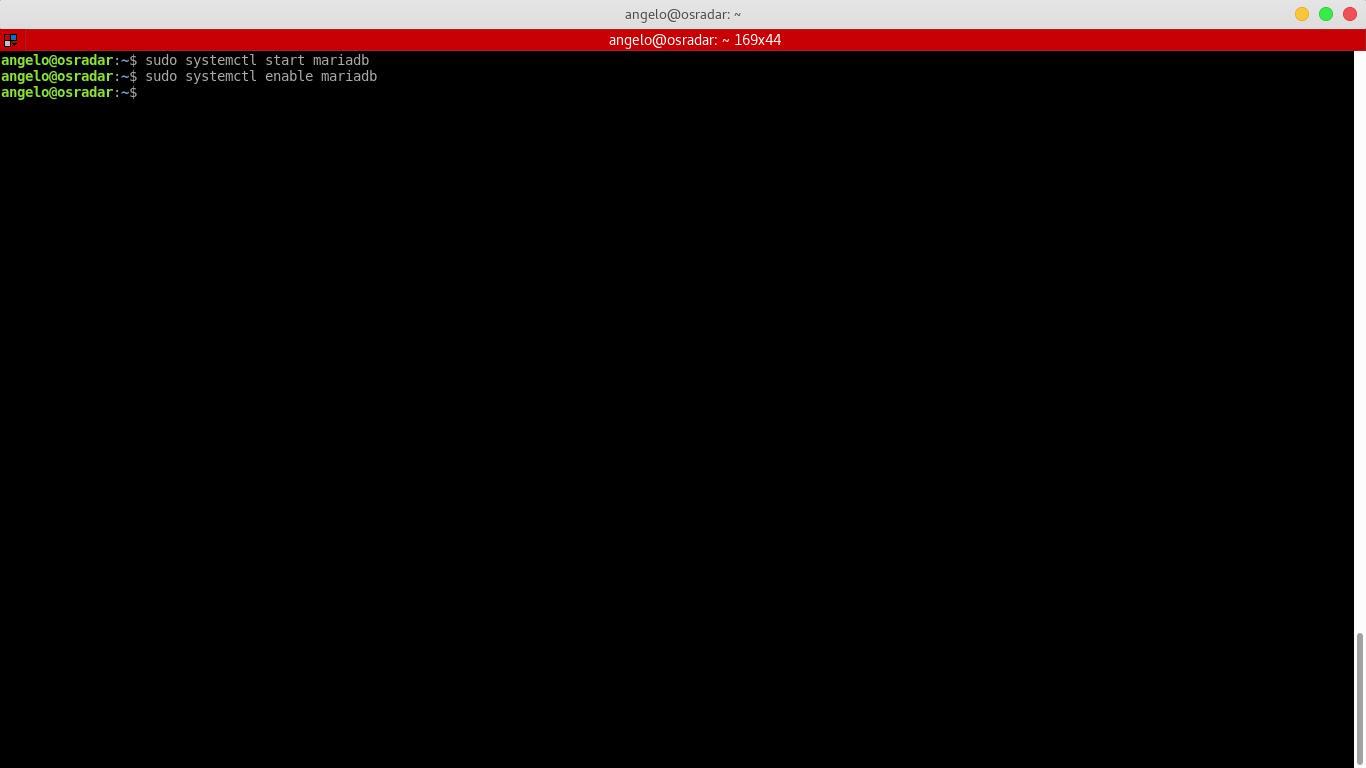8.- Starting MariaDB service
