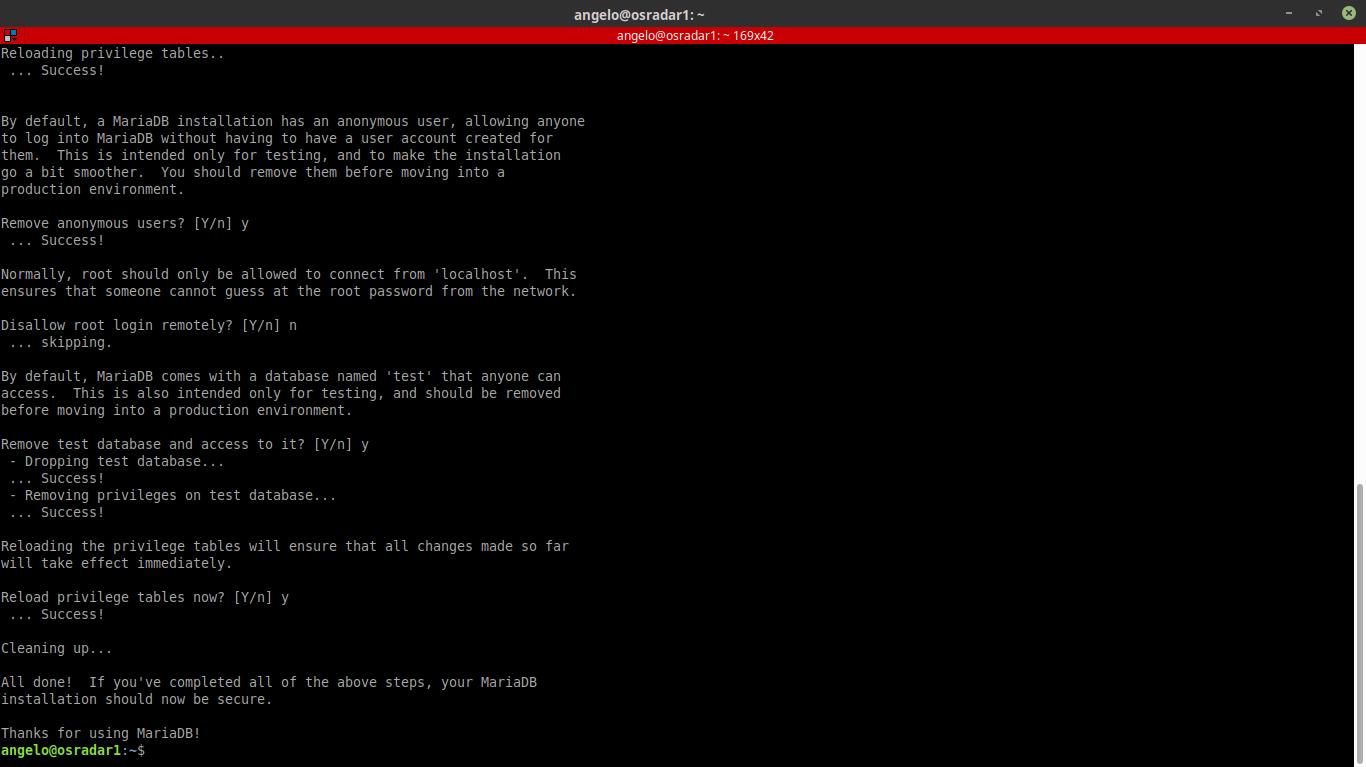 8.- Configuring Mariadb