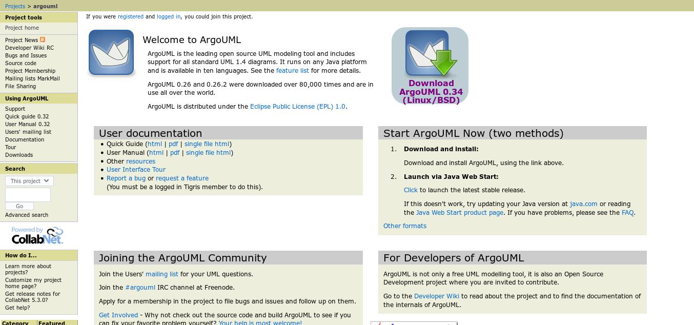 ArgoUML website